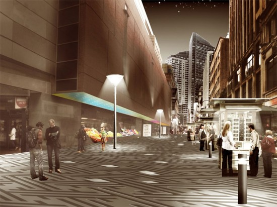 KMDG's Proposal for Downtown Crossing's New Streetscape Design Standards & Wayfinding Program (Courtesy of the Boston Redevelopment Authority)