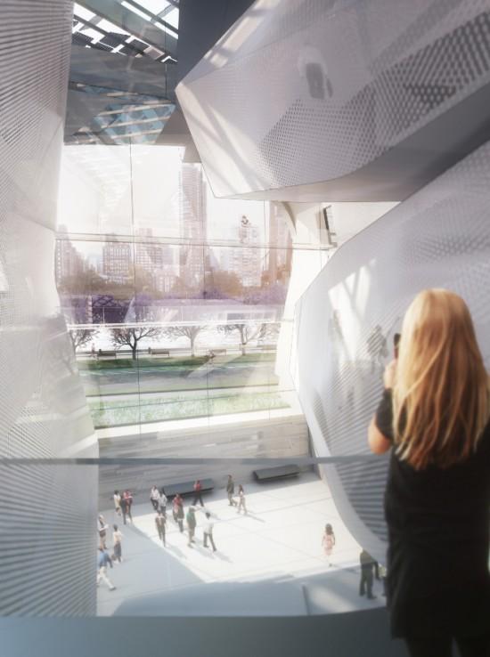 Interior View of Morphosis' Atrium Design (Courtesy Kilograph)