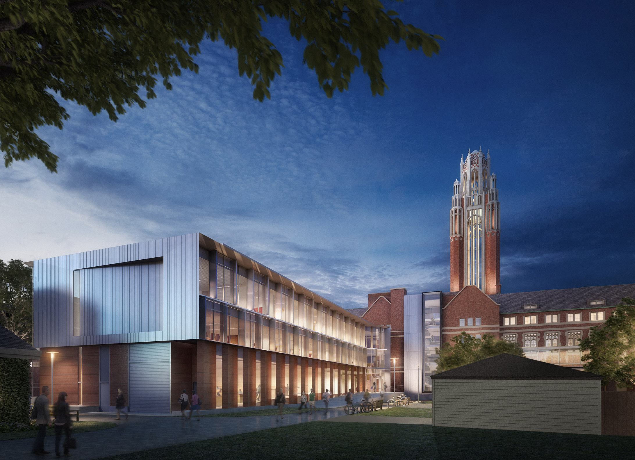 Modern Architecture Chicago u of c addition updates old seminary for modern economics
