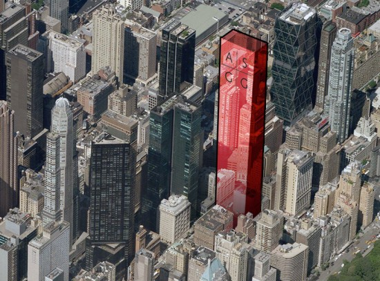 Extells new tower will be built on 57th Street east of Broadway. (Courtesy Google)