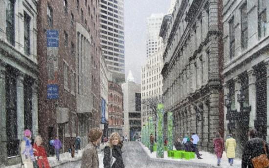 KMDG's proposed improvements include widening sidewalks.