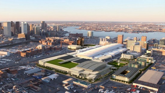 Rendering of Boston Convention Center expansion (Courtesy of Massachusetts Convention Center Authority)