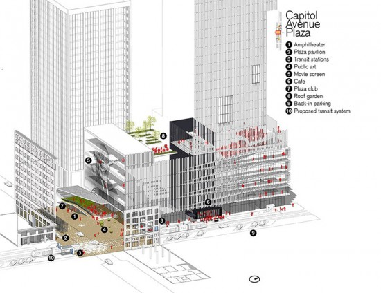 Rendering of Capitol Avenue Plaza (Courtesy Marlon Blackwell Architect & Steve Luoni)