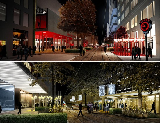 Renderings of the Creative Corridor (Courtesy Marlon Blackwell Architect & Steve Luoni)