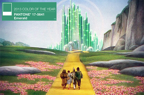 Emerald City from the Wizard of Oz. (Courtesy Warner Bros.)