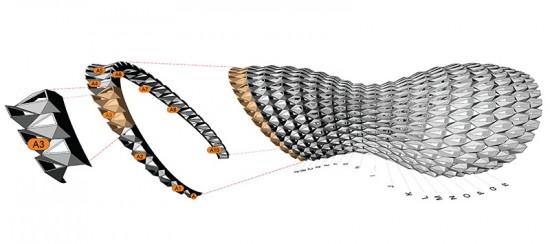 Digital model of FXFOWLE's pavilion. (Courtesy FXFOWLE)