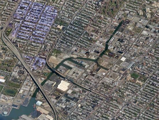 The Gowanus Canal in Brooklyn. (Courtesy Bing)