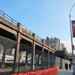 KPF's Hudson Yards office tower will straddle the High Line at 30th Street and 10th Avenue. (Branden Klayko / AN)