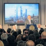Related CEO Stephen Ross speaks at the Hudson Yards groundbreaking. (Branden Klayko / AN)