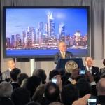 Mayor Bloomberg speaks at the Hudson Yards groundbreaking. (Branden Klayko / AN)