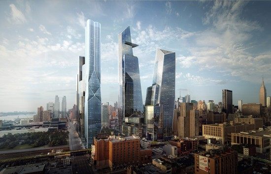 The towers of Hudson Yards. (Courtesy Related)