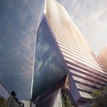 Looking up at KPF's Hudson Yards office tower. (Courtesy Related)