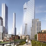 Hudson Yards viewed from the High Line. (Courtesy Related)