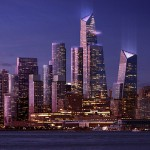 Hudson Yards stands tall on the Hudson River. (Courtesy Related)