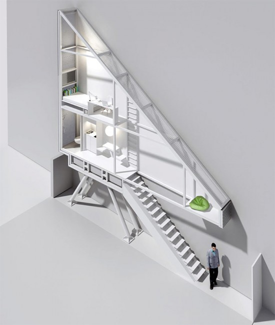 Section of the Keret House. (Courtesy Dom Kereta / Facebook)