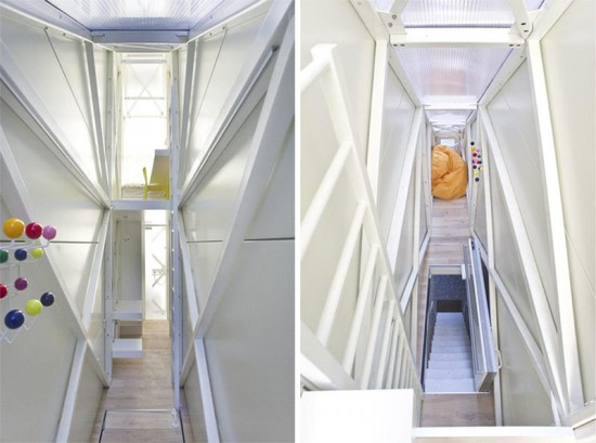 Inside the Keret House. (Courtesy Dom Kereta / Facebook)