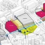 Site plan with traffic considerations (Courtesy OMA)