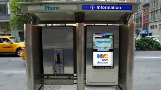 A mock-up of City 24/7 new NYC phone booth. (Courtesy NYC Department of Telecommunications)