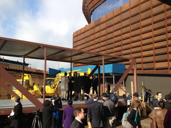 City officials and Forest City Ratner come together to break ground on B2 right next to Barclay Center. (Nicole Anderson/AN)