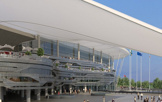 Populous' design for the new Rostov Stadium. (Courtesy Populous)