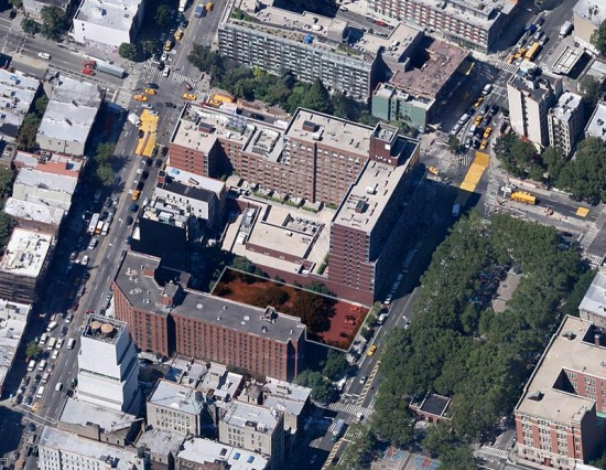 Site of Ian Schrager's planned tower. (Courtesy Google)