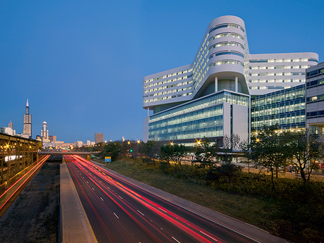 Rush University Medical Center in Chicago, Illinois. (Courtesy Steinkamp Photography)