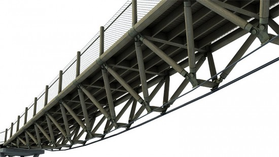 Rendering of the Squibb Park Pedestrian Bridge. (Courtesy HNTB)