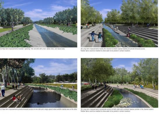 A preview of the river under the LA River Revitalization Master Plan (Mia Lehrer + Associates)