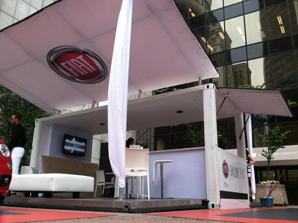 Showroom for Fiat event (Courtesy Boxman Studios)