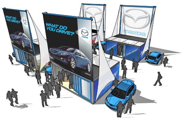 Rendering for Mazda trede show (Courtesy Boxman Studios)