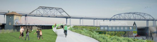 Rendering of Bronx River Right-of-Way. (Courtesy of SLO Architecture)