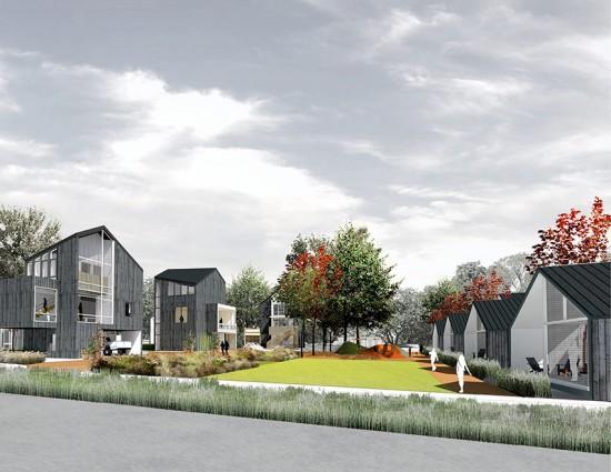 Rock Street Pocket Housing (Courtesy of University of Arkansas Community Design Center)