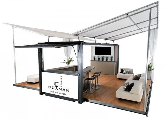 A prototype pop-up lounge. (Courtesy Boxman Studios)