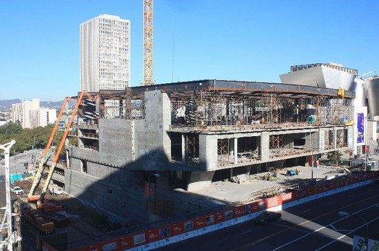 Broad Museum construction as of January 4, 2013. (Courtesy Broad Foundation)