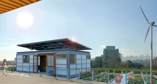 Solar Roofpod to be installed atop CCNY's Spitzer School of Architecture. (Courtesy CCNY)