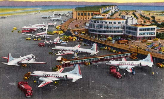 LaGuardia Airport circa 1940. (Courtesy Boston Public Library / Flickr)
