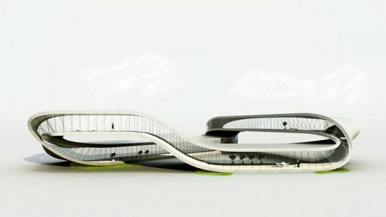 The proposed 3-D printed Landscape House. (Courtesy Universe Architecture)