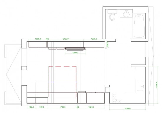 """Floor plan of the """"Making Room"""" exhibition. (Courtesy Resource Furniture)"""