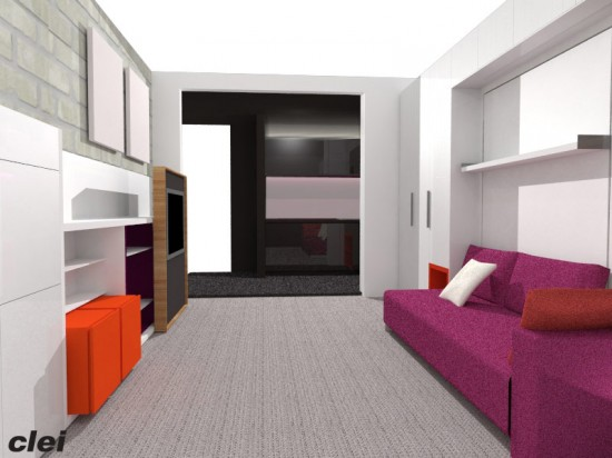 "Rendering of the ""Making Room"" exhibition. (Courtesy Resource Furniture)"