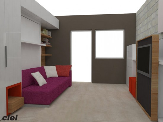 """Rendering of the """"Making Room"""" exhibition. (Courtesy Resource Furniture)"""