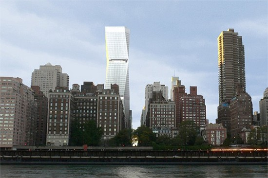 Rendering of 250 East 57th Street by SOM's Roger Duffy.