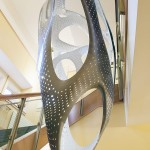 The tessellated perforations lighten the sculpture both visually and in terms of weight. (Courtesy Brooks Dierdorff)