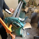 Rolling the sections into the necessary curved shape. (Courtesy Vokan Alkanoglu)