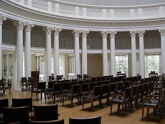 Inside the University of Virginia Rotunda. (smilla4 / Flickr)