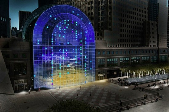 Rendering of LightCycles at the World Financial Center. (Courtesy Brookfield Properties)
