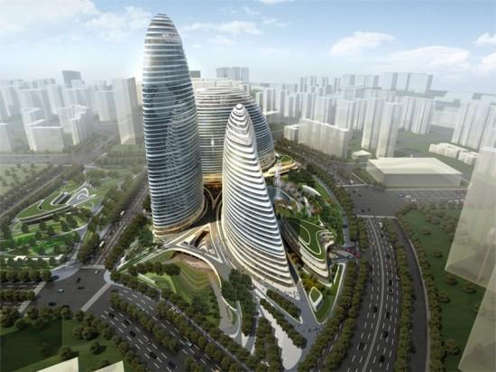 Zaha Hadid's Wangjing Soho project. (Courtesy Zaha Hadid Architects)