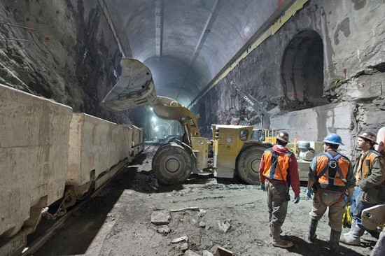 Manhattan's East Side Access Tunnel will connect the Long Island Railroad with Grand Central Terminal. (Courtesy MTA)