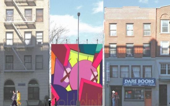 Rendering of Mural by KAWS (Courtesy of Community Board 2/Via Brownstoner)
