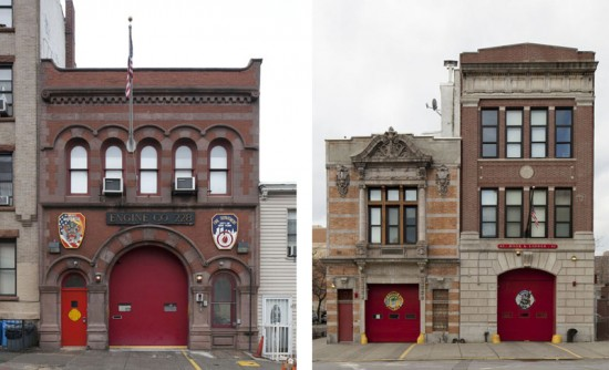Engine Co. 228 in Sunset Park, Brooklyn (left) Engine Co. 73/Hook & Ladder 42 in Longwood, Bronx (right)