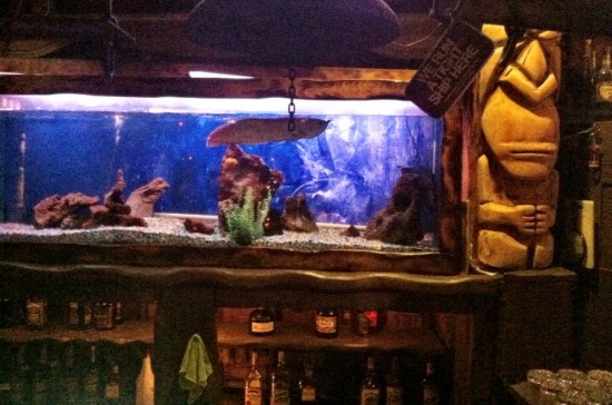 A fish swims above Bahooka's bar. (Sam Lubell/ AN )